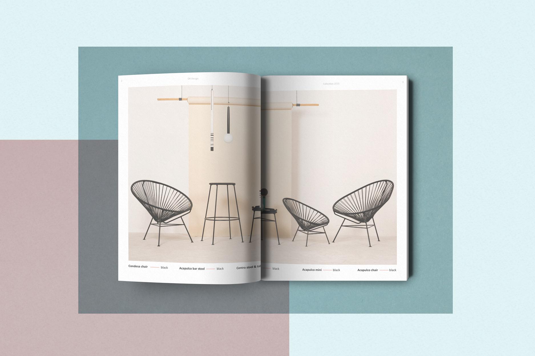 Ok design katalog for 2015 kolleksjonen designet av ohoi for Design katalog