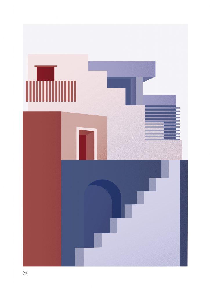 arkitektur illustrasjon fantasi postmodernisme funkis digital tegnet