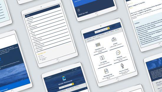 Molde Kommune nettside design ikoner responsiv brukervennlig webside webdesign