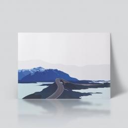 Atlanterhavsveien Plakat romsdalen norge natur av ohoi studio