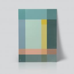 Grid Plakat geometrisk   grafisk plakat av ohoi studio