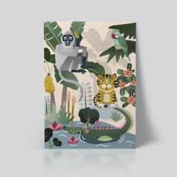 Plakat jungeldyr barnerom dyr Ohoi Studio