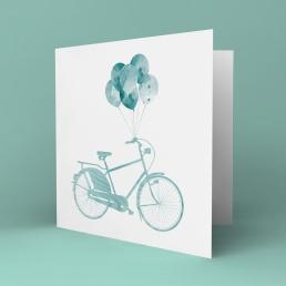 Blå sykkel kort