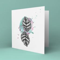 Zebra leaf kort
