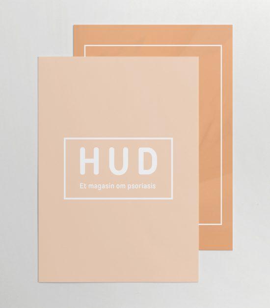 Hud magasin om psoriasis layout og design