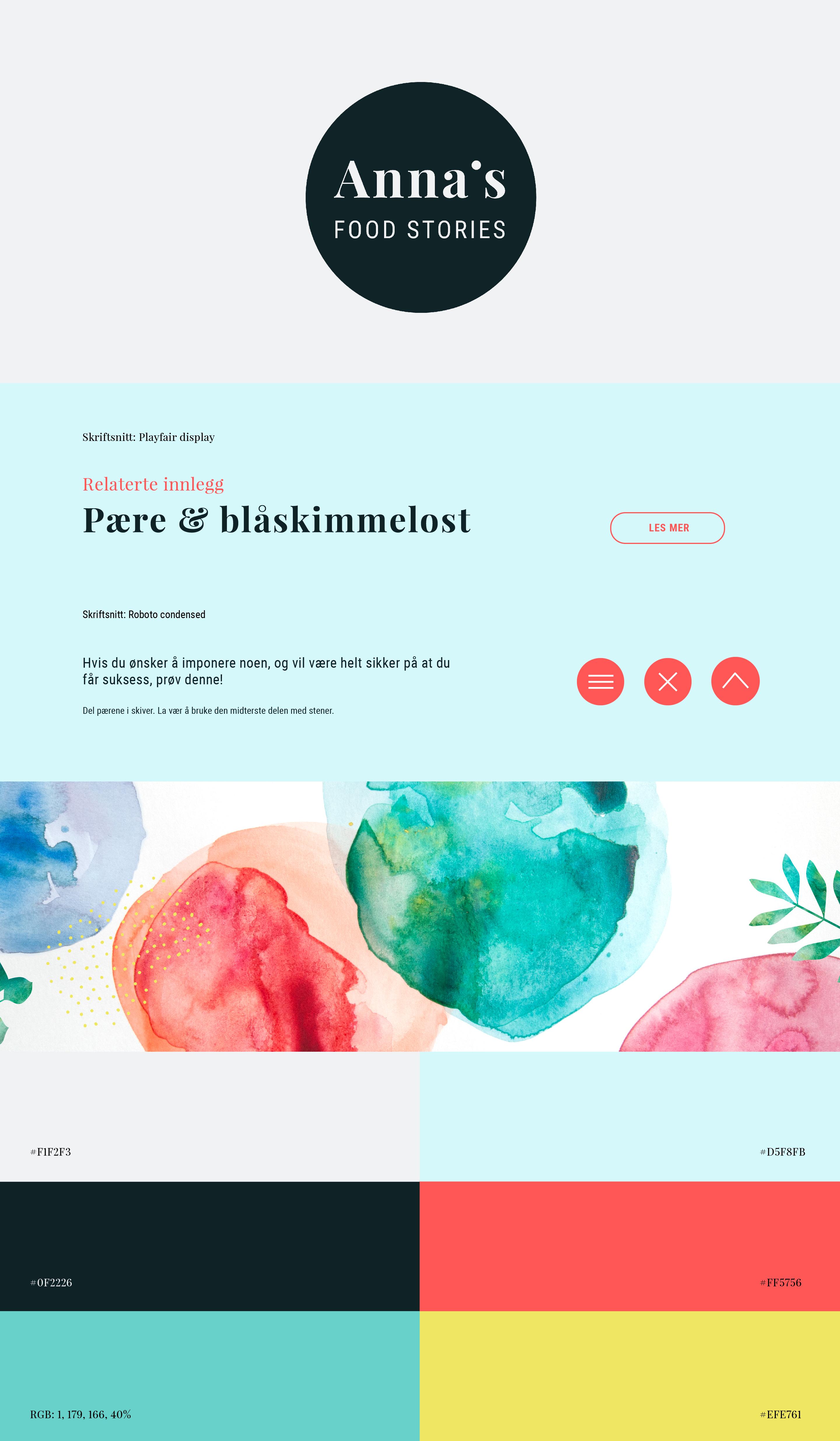 Annas food stories - blogg design - logo - identitet - mat