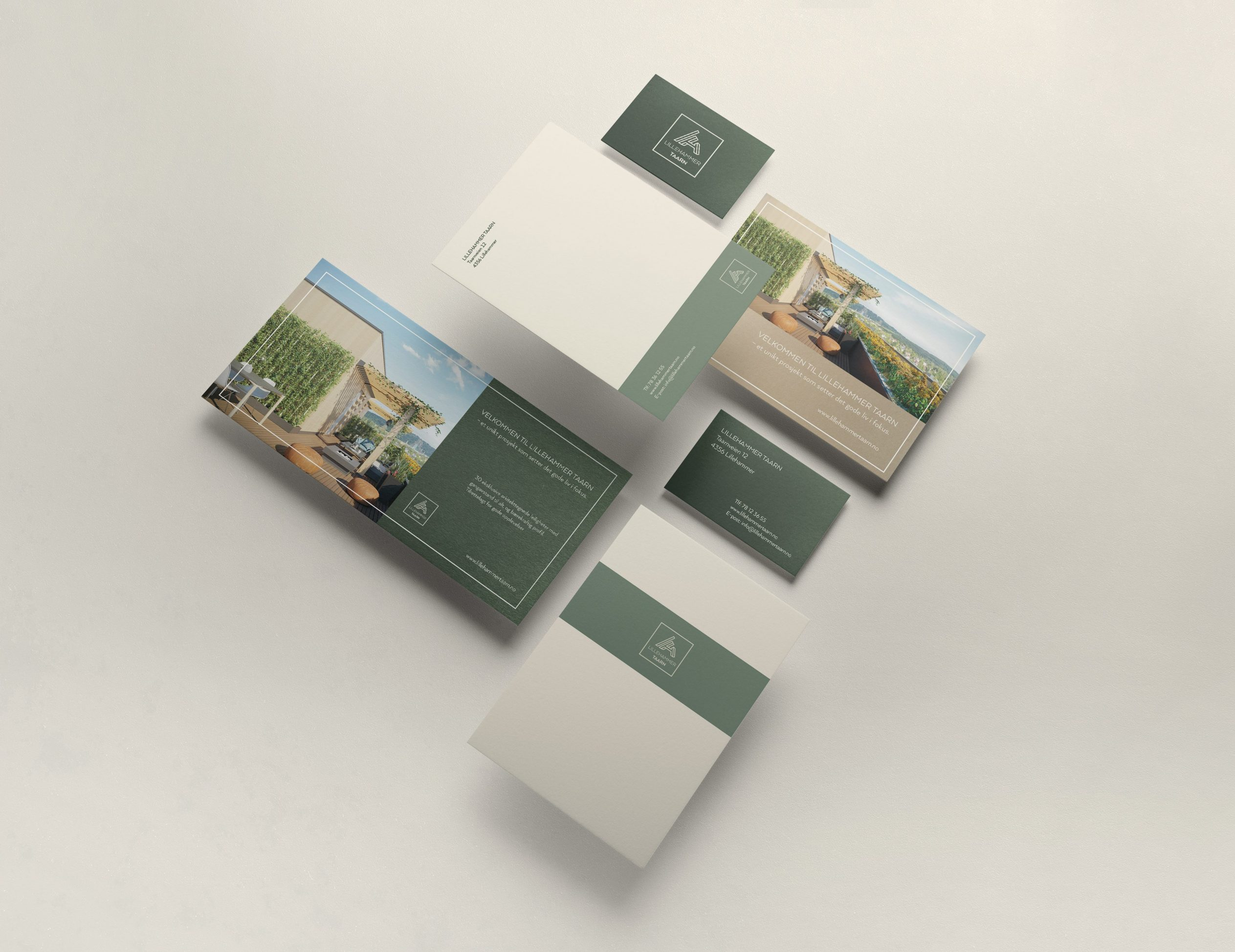 Lillehammer Taarn visuell identitet prospekt eiendom boligprosjekt logo prospekt