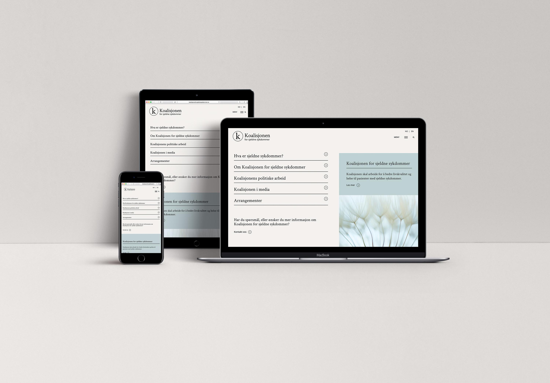 koalisjonen enkel nettside Wordpress logo identitet
